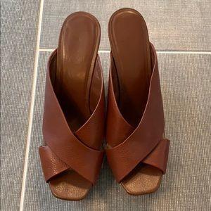 Jessica Simpson Leather Wedge Shoe